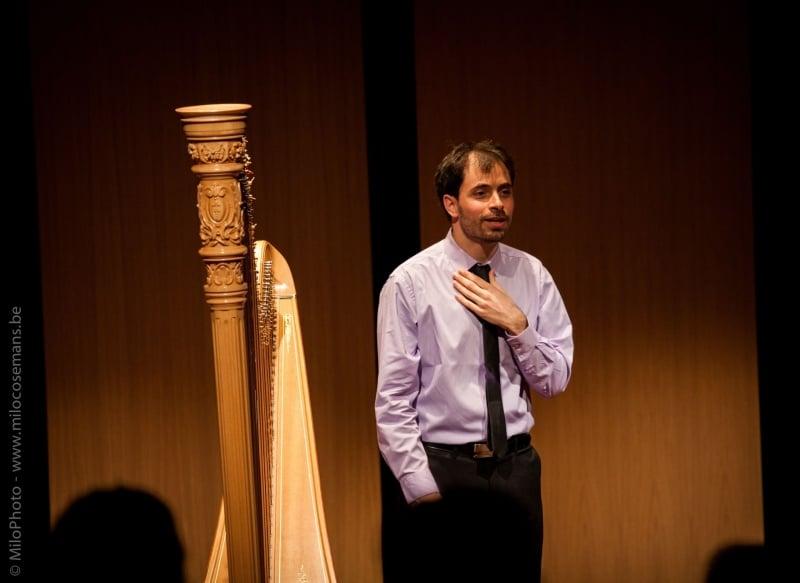 Harpist Sivan Magen speelt fantastisch concert