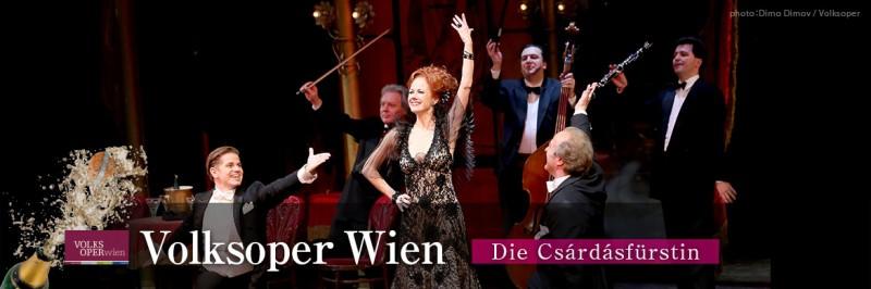 Volksoper Wenen : Die Czardasfürstin – Gräfin Mariza – Viva La Mamma