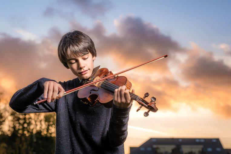 Joshua Galasse (13) zou graag Tchaikovski met orkest spelen