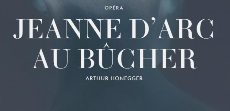 Jeanne d'Arc au bûcher in De Munt