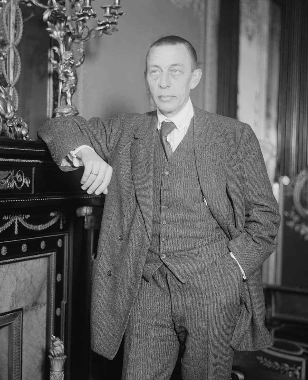 zwart-witfoto van Sergej Rachmaninov